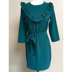 Brand new H&M hunter green ruffle top dress